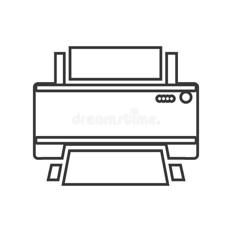 等高颜色单色家庭打印机 向量例证