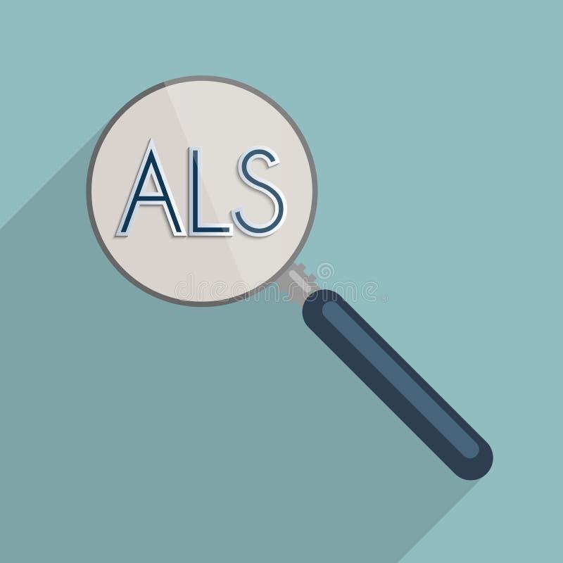 筋萎缩性侧部硬化症- ALS 皇族释放例证