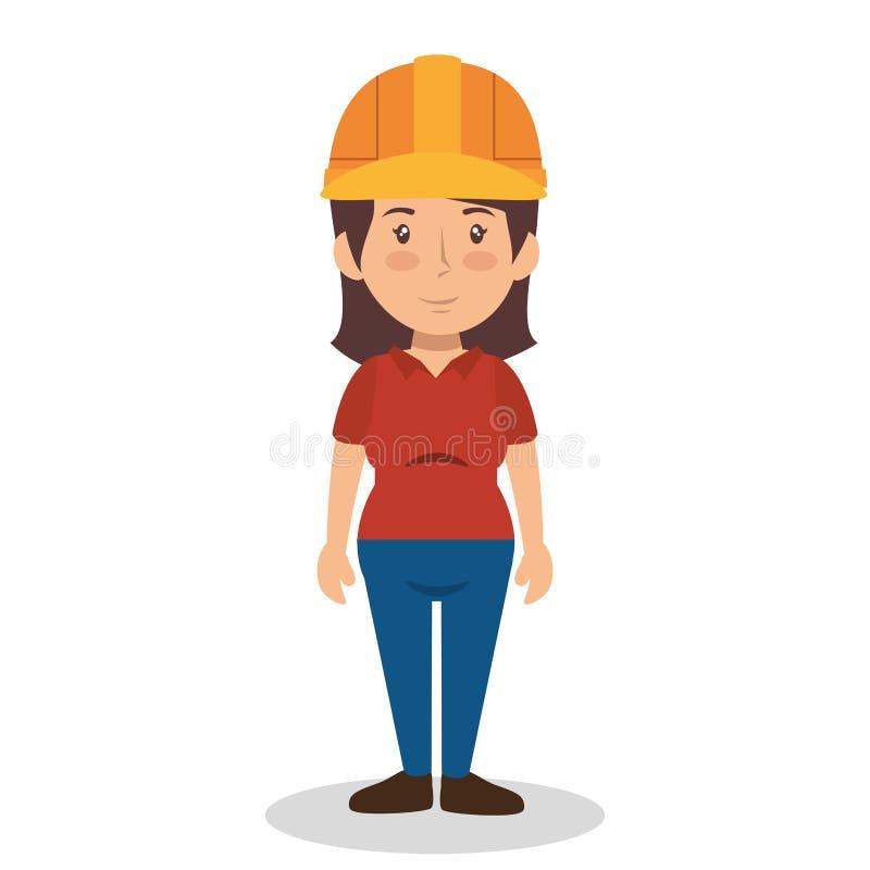 建筑专业具体化字符 库存例证