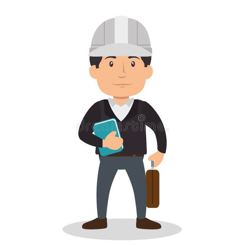建筑专业具体化字符 向量例证