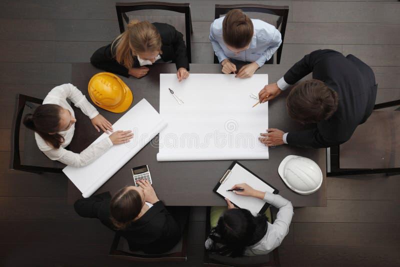 建筑业会议 免版税库存图片