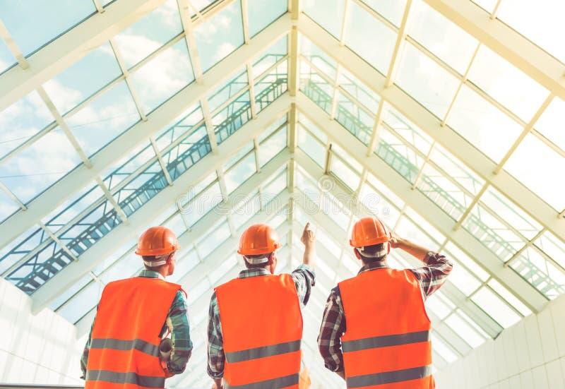 建筑业工作者 库存图片