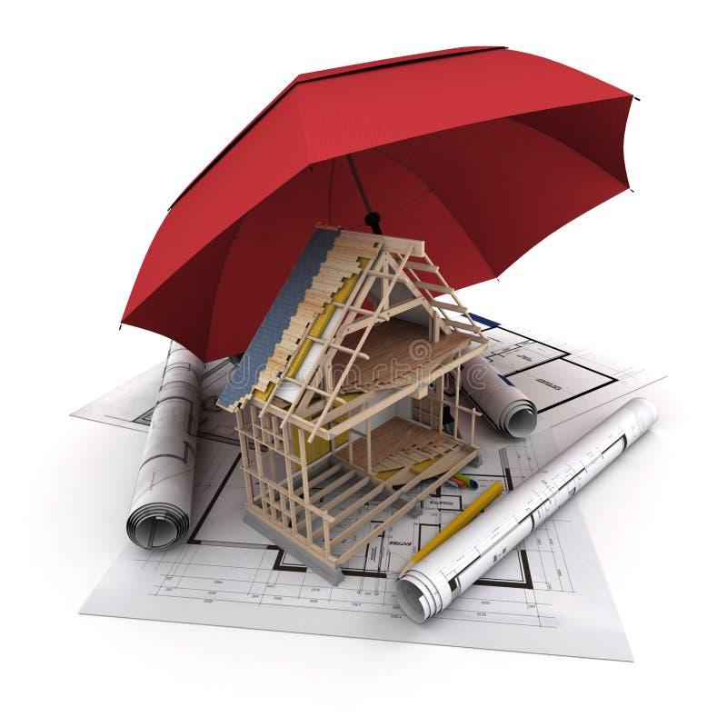 建筑保险 皇族释放例证