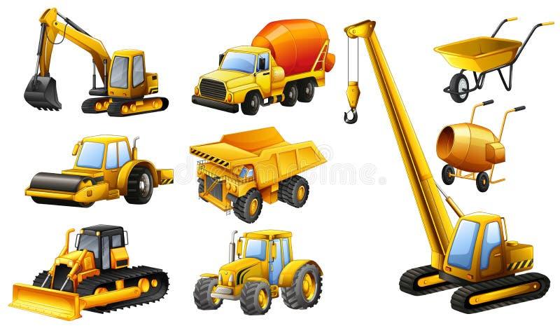 建筑卡车的不同的类型 向量例证
