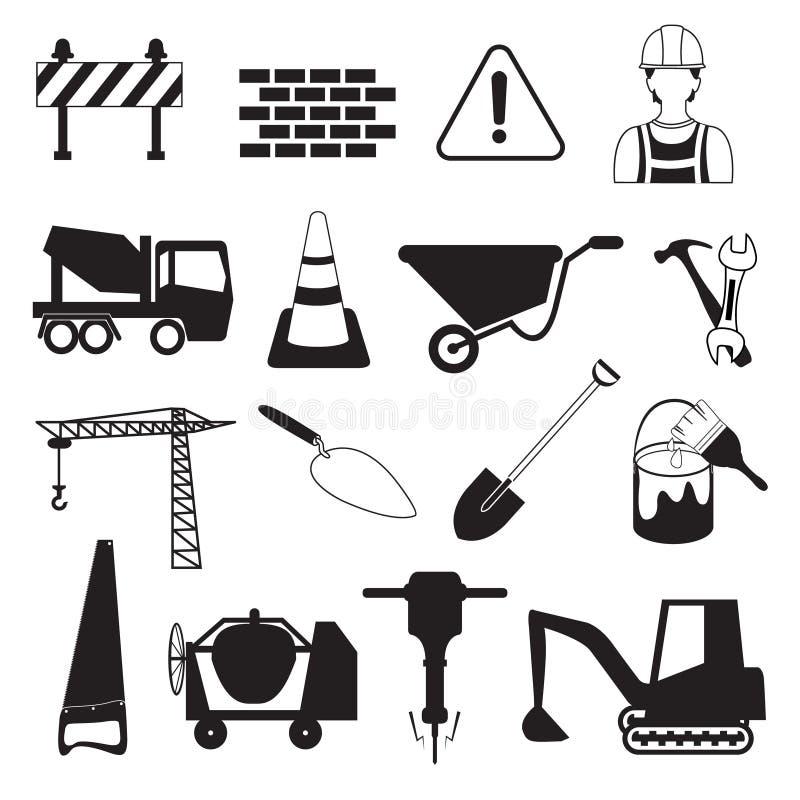建筑和产业象 向量例证
