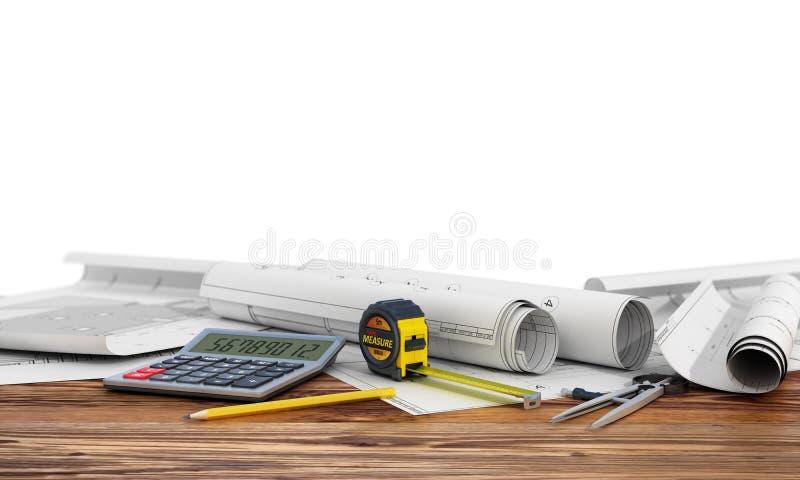 建筑和设计的概念 免版税库存图片