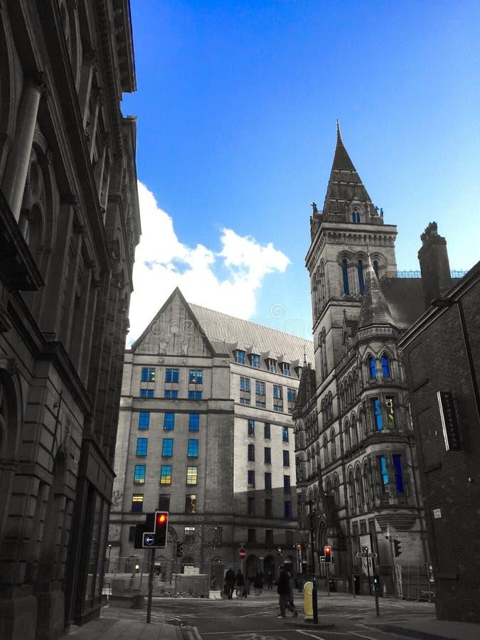 建筑学在曼彻斯特 免版税库存图片
