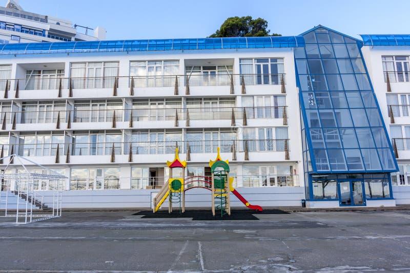建筑学在雅尔塔乌克兰 免版税库存照片