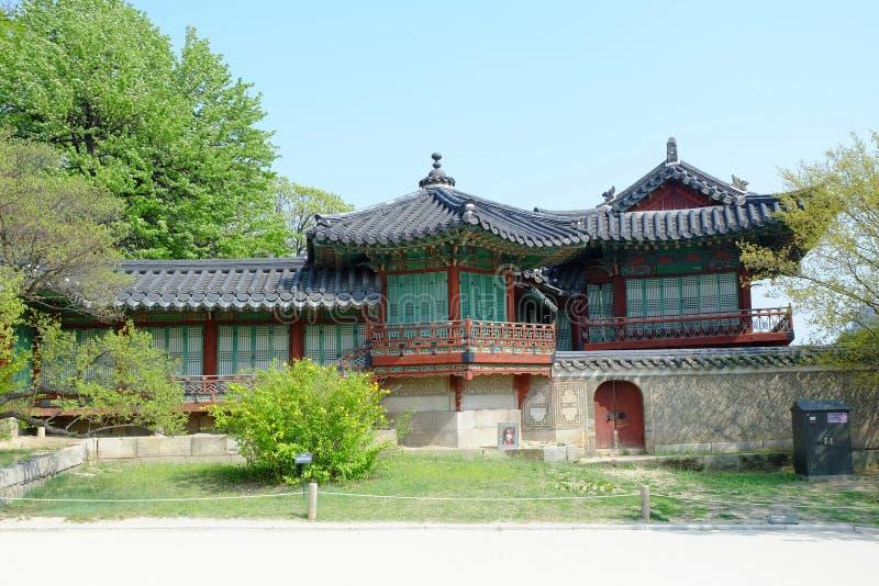 建筑学在韩国 免版税库存照片