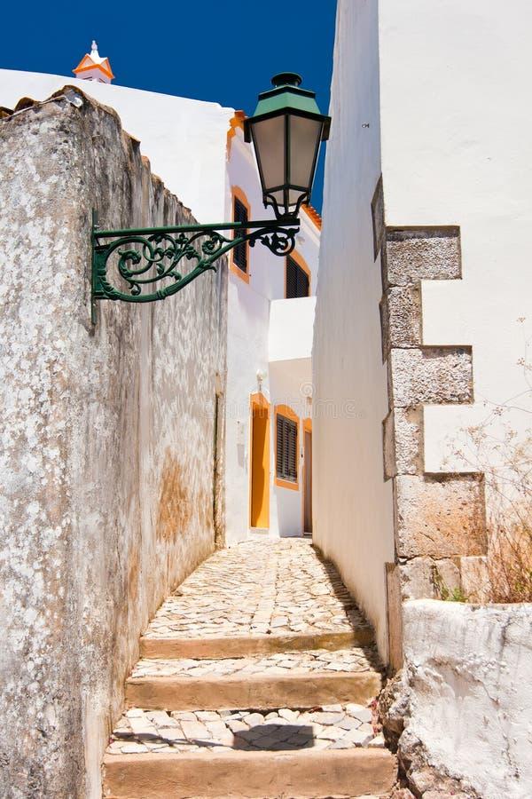 建筑学在Alte,葡萄牙 E 免版税库存照片