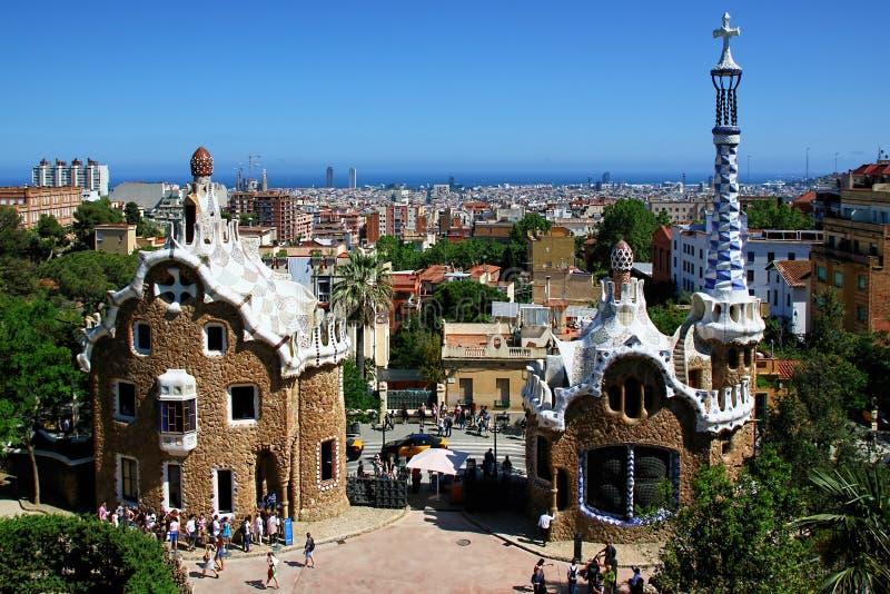 建筑学安东尼Gaudi在巴塞罗那,西班牙 免版税库存照片