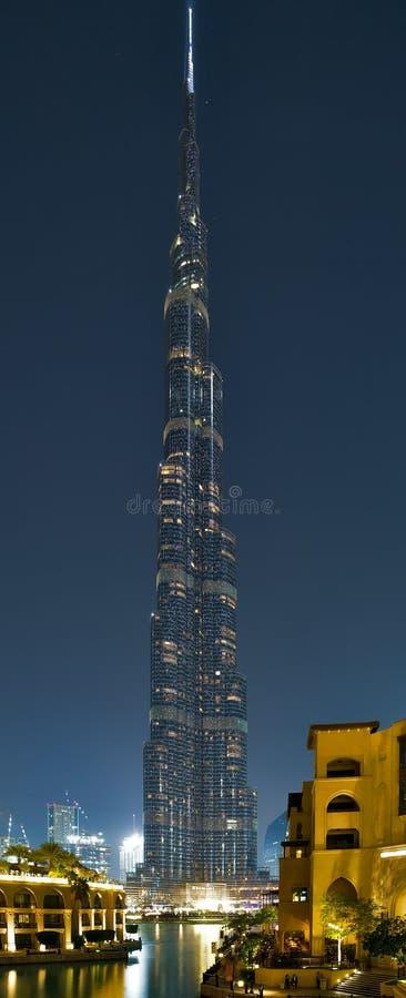 建筑学迪拜Burj哈利法,阿联酋 库存照片