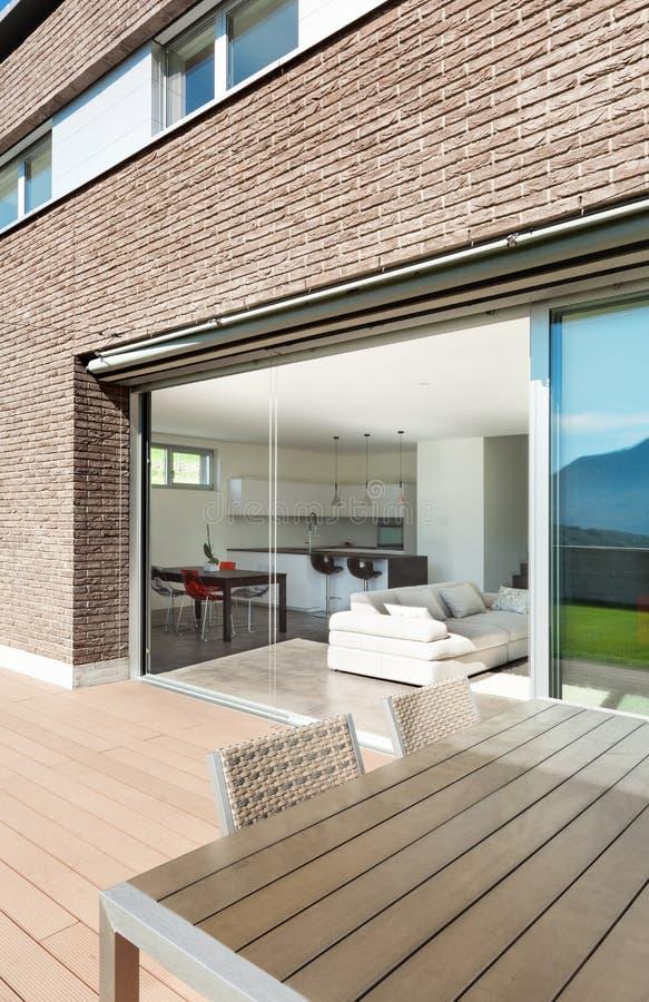 建筑学,现代房子,室外 库存图片