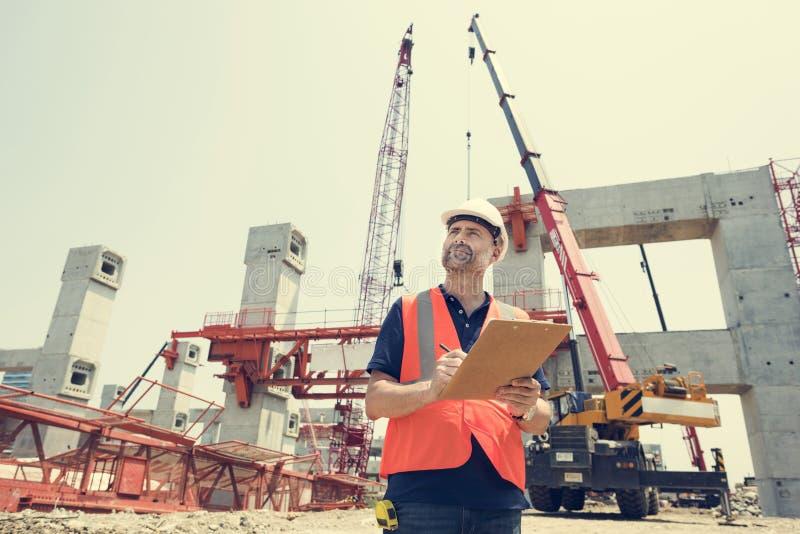 建筑学建筑安全第一个事业概念 免版税库存图片