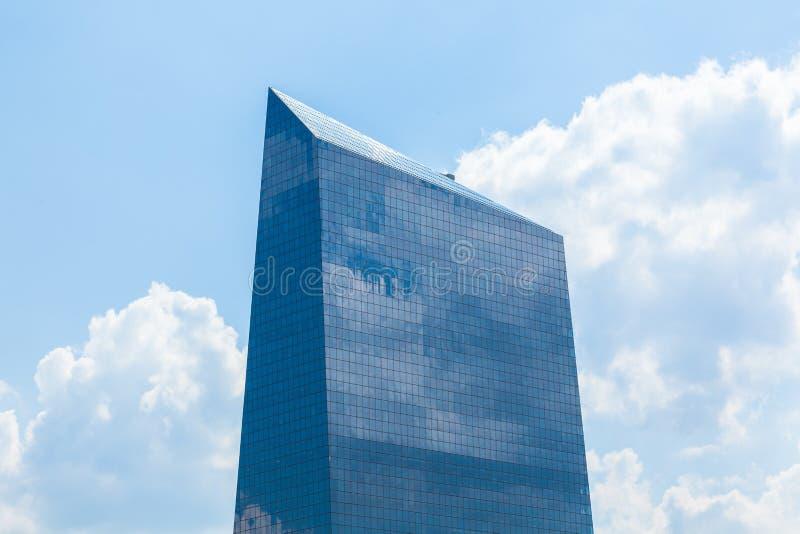 建筑学细节-费城街市玻璃大厦-笔 免版税库存图片