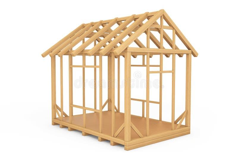 建筑家庭木 向量例证