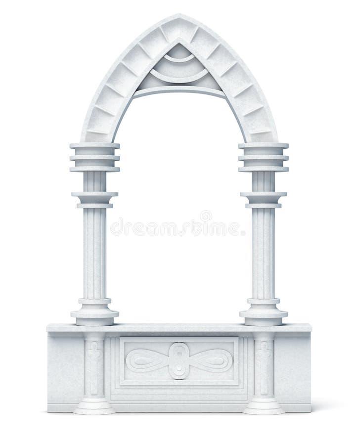 建筑对象专栏成拱形在wh的栏杆楼梯栏杆 皇族释放例证