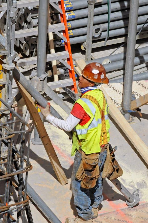 建筑工人,纽约 免版税库存照片