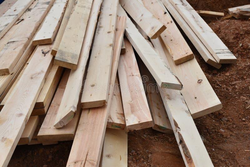 建筑工地木材 库存照片