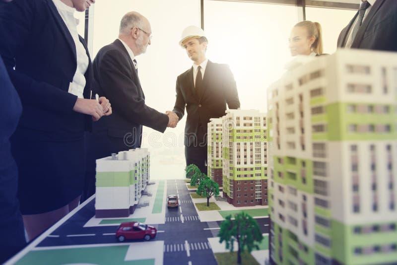 建筑师业务会议  库存图片
