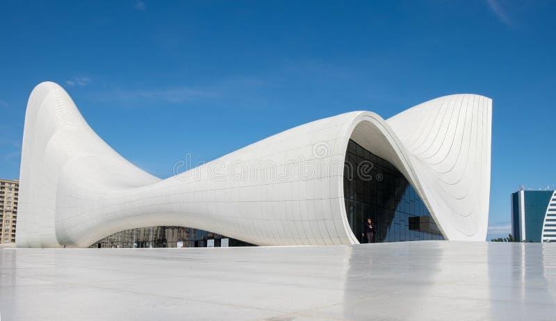 建筑师设计的Haydar阿利耶夫中心萨哈・哈帝 免版税库存照片