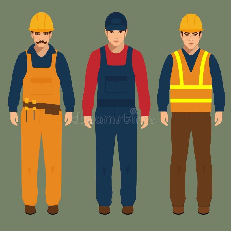 建筑查出的好成套装备工作者 向量例证