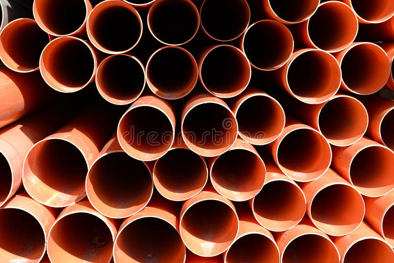 建筑桔子管子 库存图片