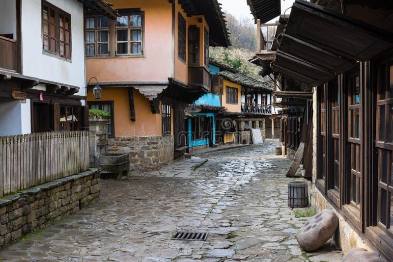 建筑民族志学复杂Etara,保加利亚 免版税库存照片