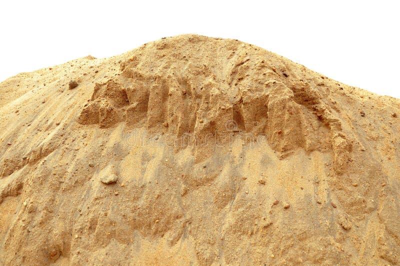 建筑沙子尘土堆 免版税库存图片