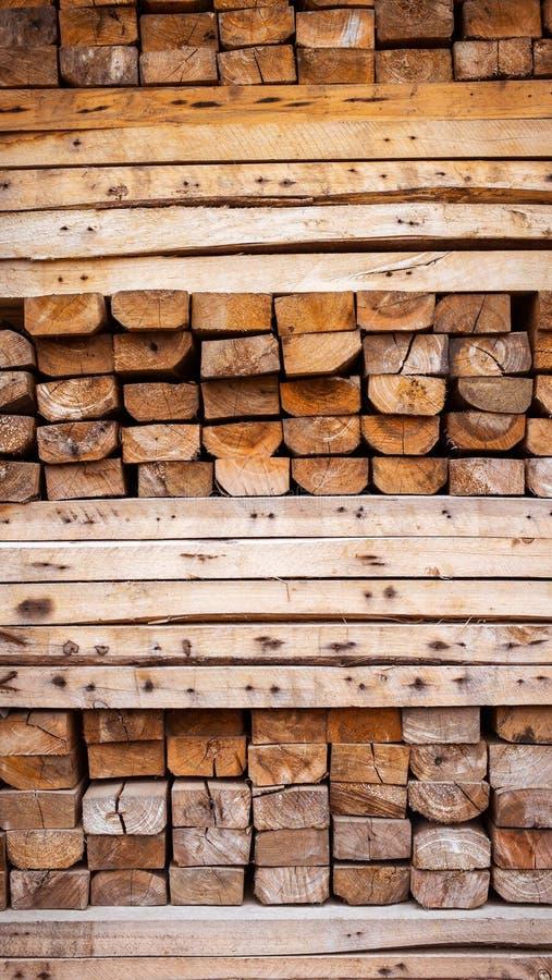 建筑的木被堆积的,原材料 图库摄影