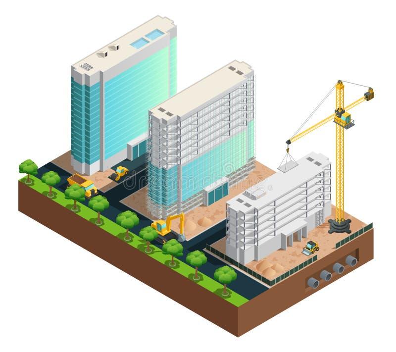建筑等量构成 库存例证