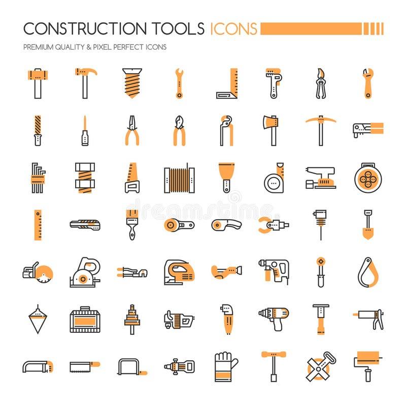 建筑锤子用工具加工视窗 皇族释放例证