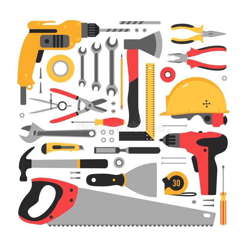 建筑集合工具 向量例证
