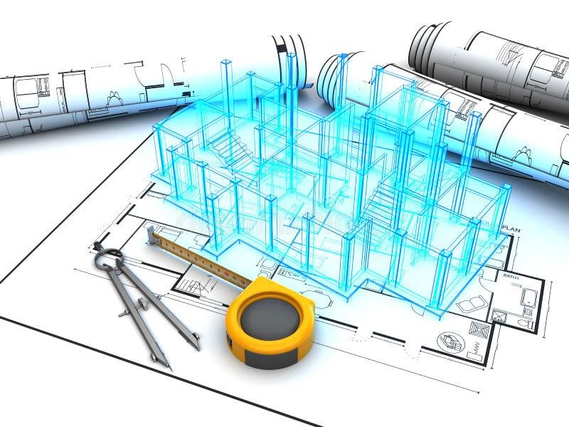 建筑项目 皇族释放例证