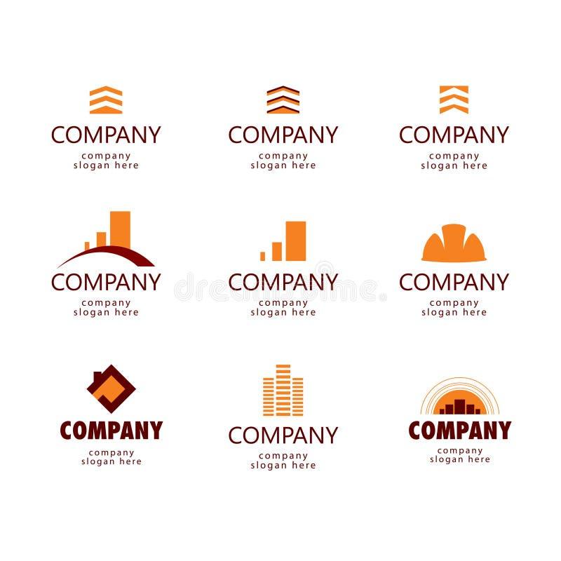 建筑和房地产商标 向量例证