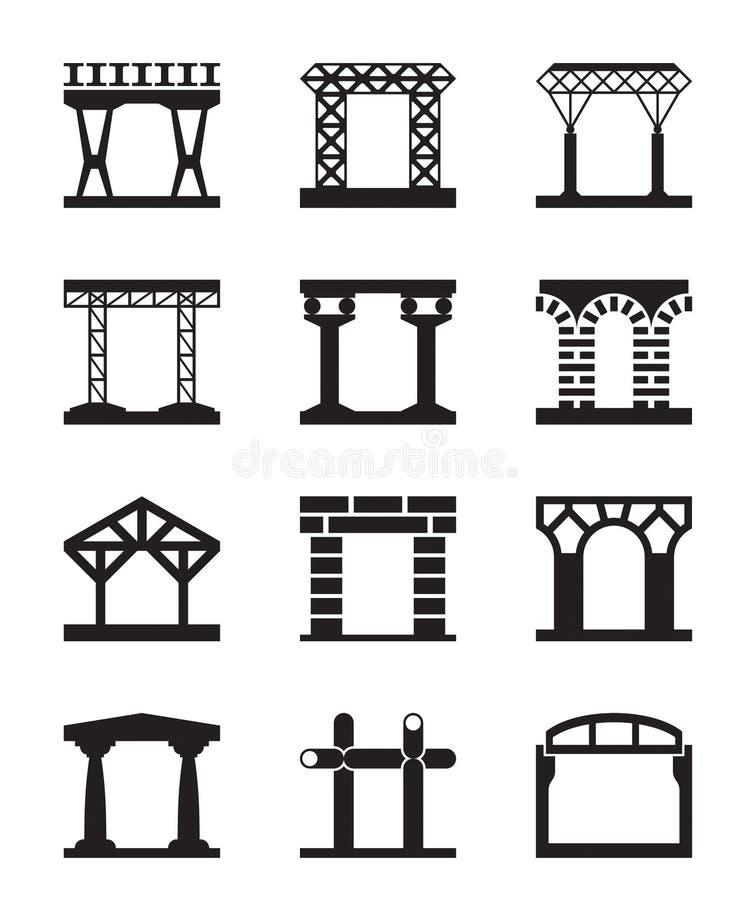 建筑结构的不同的类型 皇族释放例证