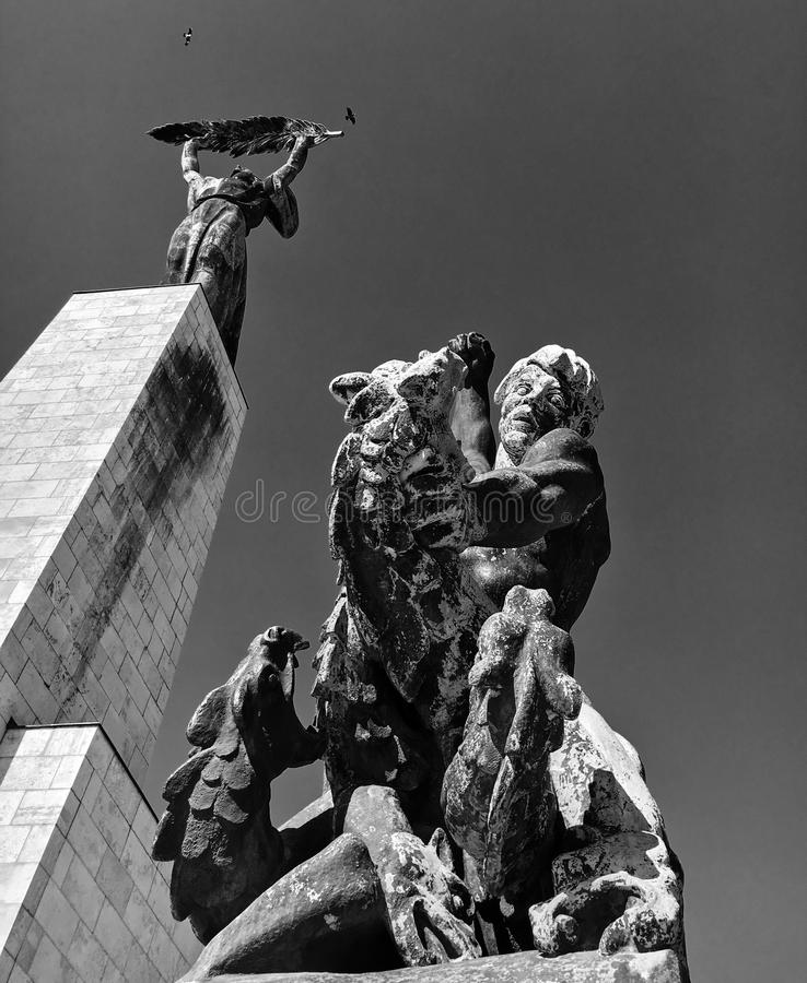 建筑细节在布达佩斯 库存照片
