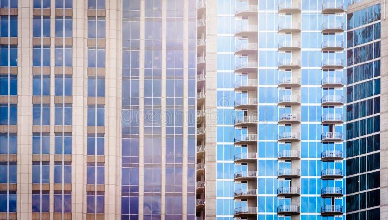 建筑细节在街市夏洛特,北卡罗来纳 免版税库存图片
