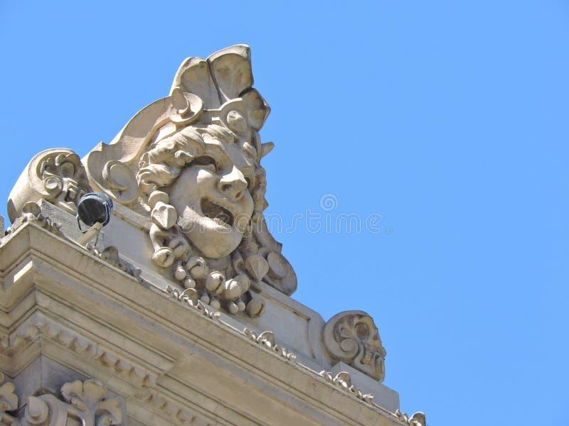 建筑细节,面孔 免版税库存图片