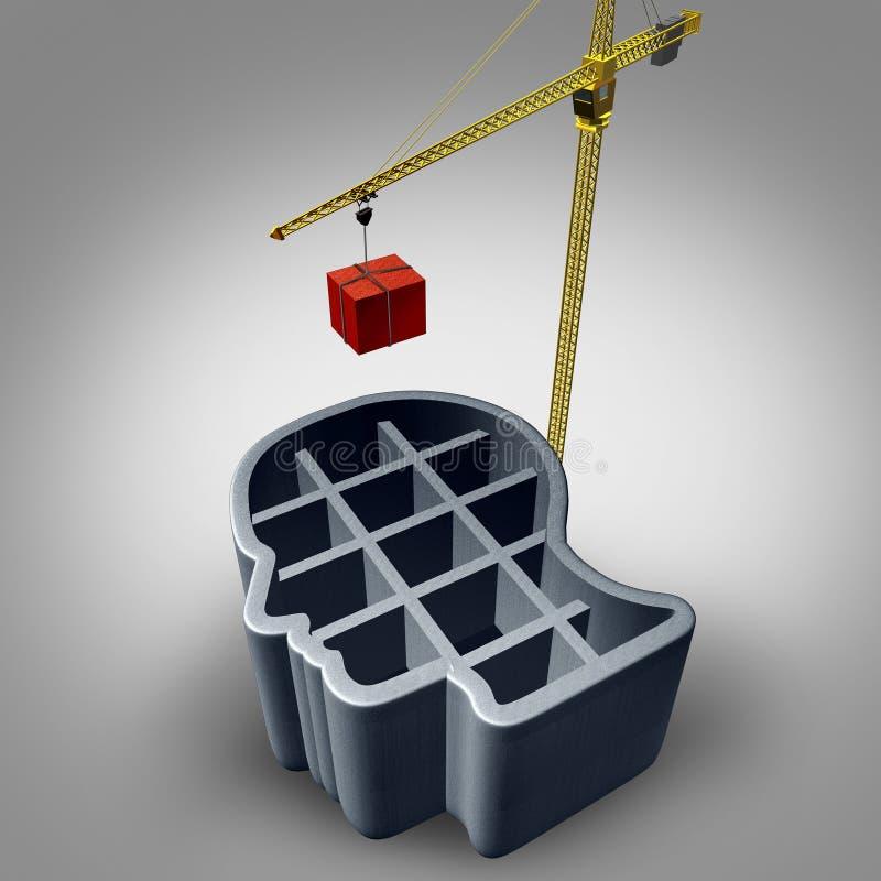 建筑头 向量例证