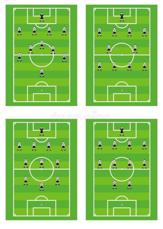 策划足球作战小组 向量例证