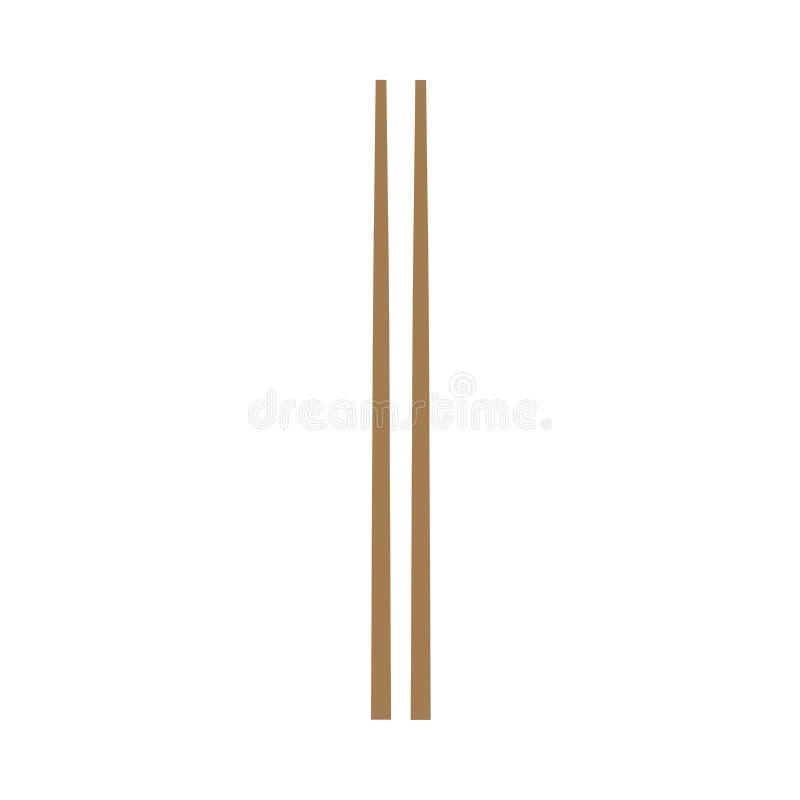 筷子传统午餐亚洲文化传染媒介象 海鲜标志,特写镜头集合平的工具 库存例证