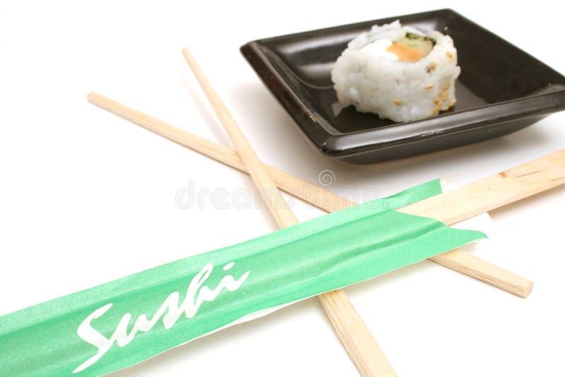 筷子寿司 库存照片