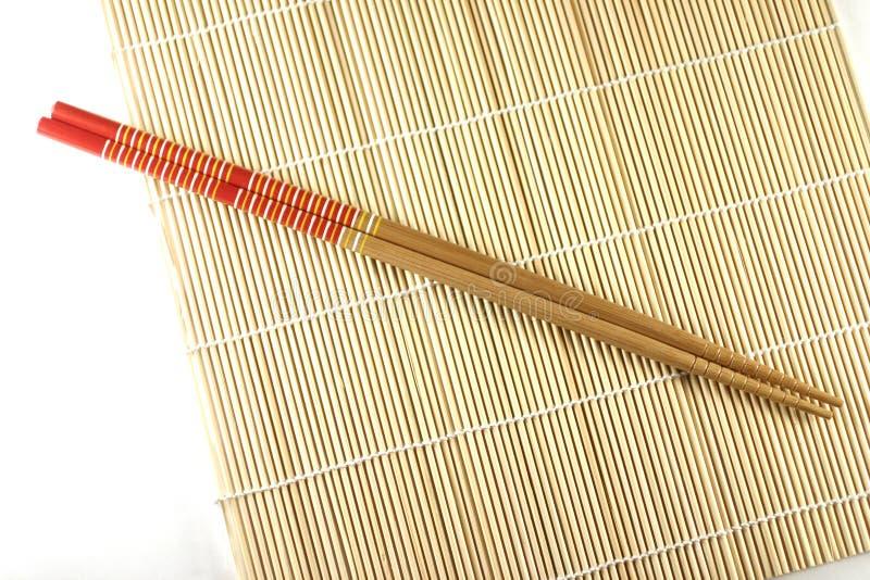 筷子席子滚 库存图片