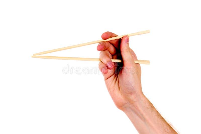 筷子木现有量s的妇女 库存照片