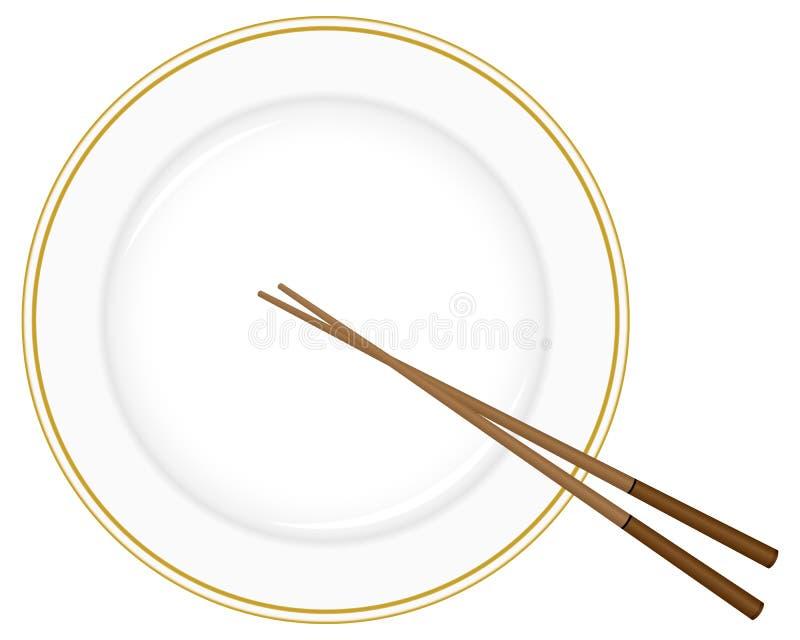 筷子牌照 皇族释放例证