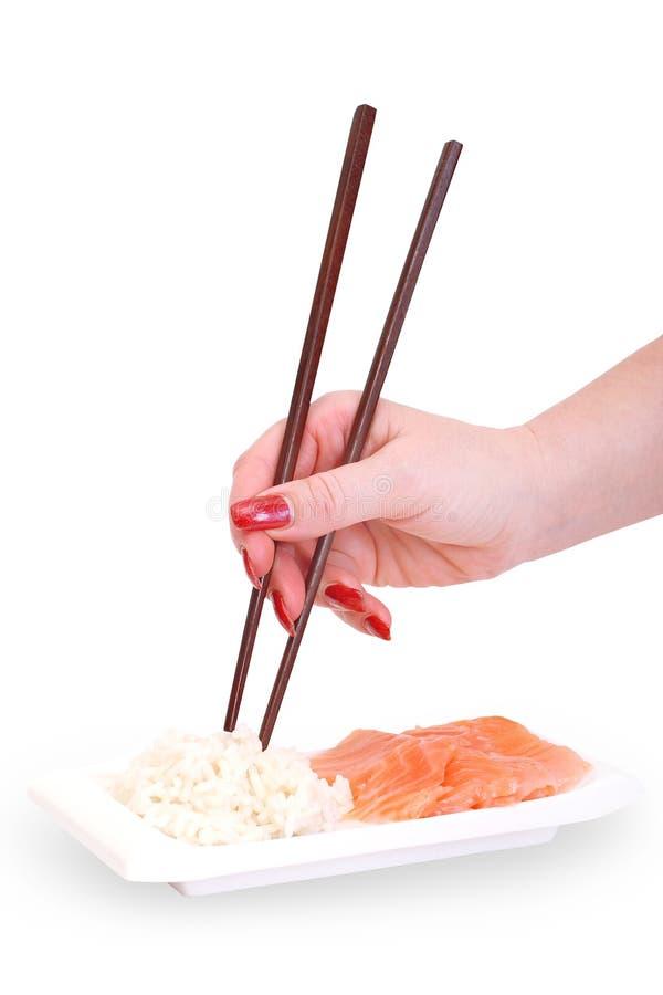 筷子现有量s妇女 免版税库存图片
