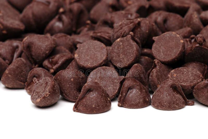 筹码巧克力关闭 库存图片