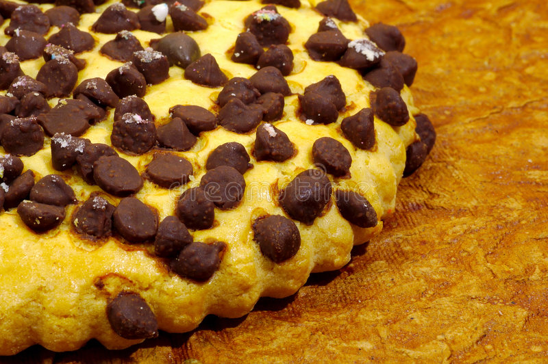 筹码巧克力曲奇饼 免版税库存图片