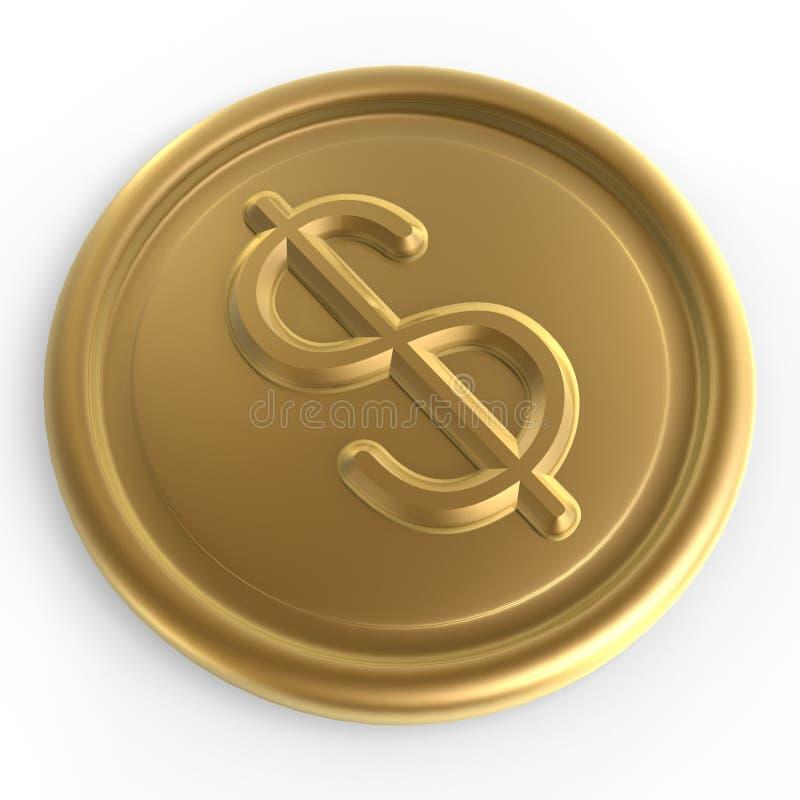 筹码美元 皇族释放例证